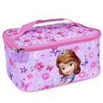 Trousse Beauté de Toilette pour Fille Disney Princesse Sofia - Pochette de maquillage rectangulaire - Cosmétique Sacs de voyage - Violet - 20x10x14 cm - Perletti de la marque Perletti image 1 produit
